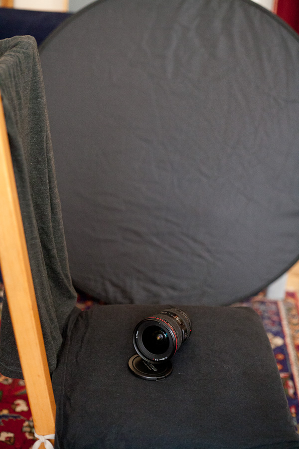 This shows the overall setup for the product shot
